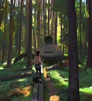 Path of Miranda Forest walk by snatti89