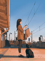 Waiting for the train by snatti89