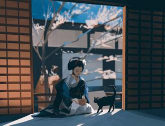 Feeding the cat by snatti89