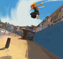 Parkour At The Beach