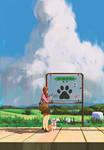 Heading to dog village