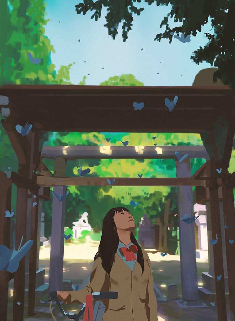 Blue butterflies by snatti89
