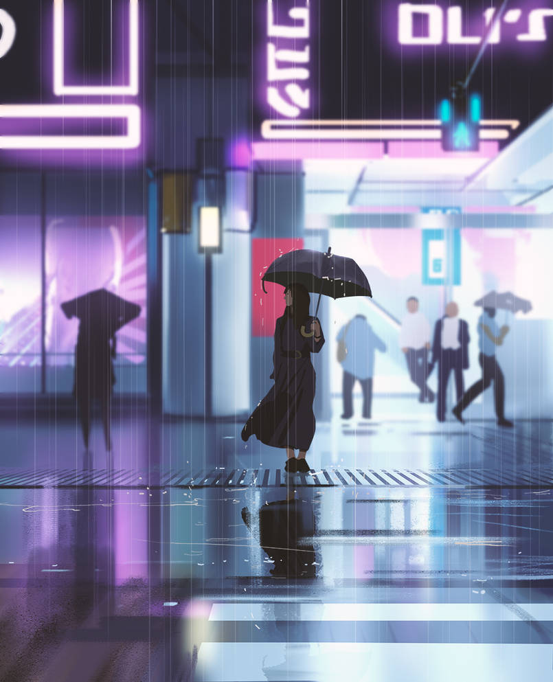 Wet day by snatti89