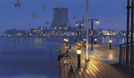 Late night fishing
