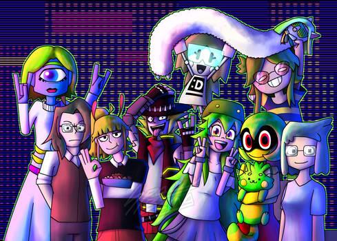 (Artfight) Green Hair Gang