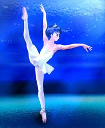 Princess dancing in the deep sea by usuiou