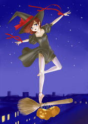 A magical ballerina on Halloween Night by usuiou