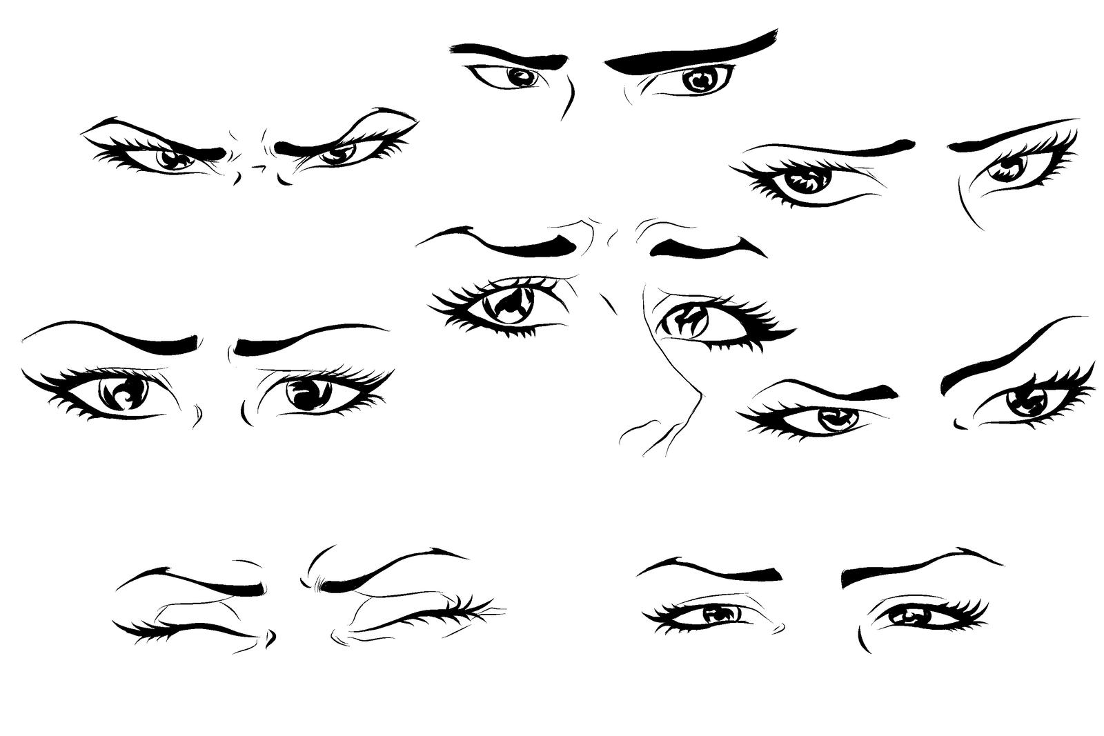 Anime Eyes By Skellymonpierre Anime Eyes By Skellymonpierre How To Draw  Anime Male Eyes Step 4