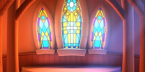 Church Stained Glass Mural by BrettStebbins
