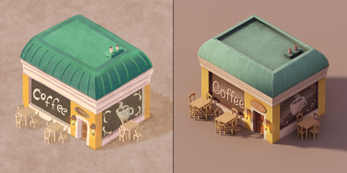 Coffee Shop Concept and Render