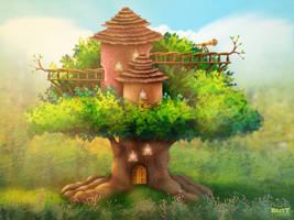 Big Lookout Tree Exterior Concept Art