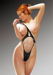 Black Bikini by GraphicDream