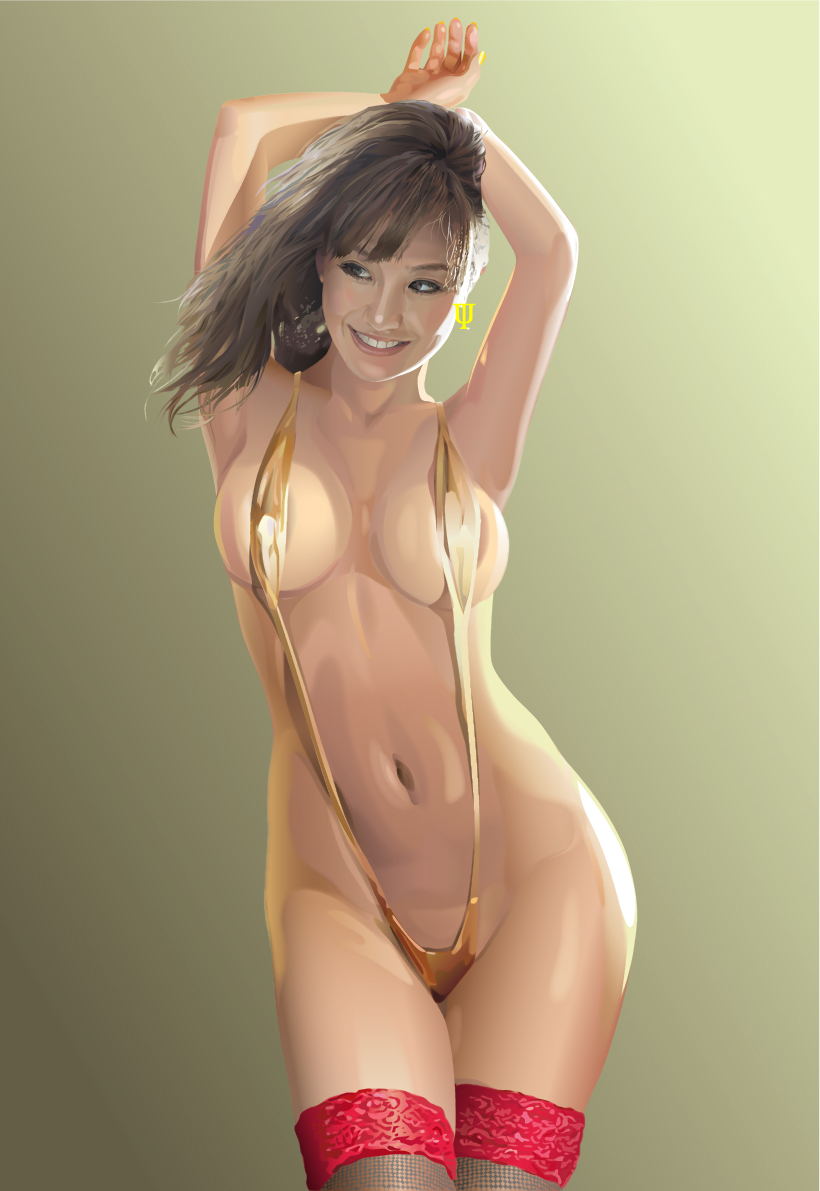 Gold-bikini by GraphicDream
