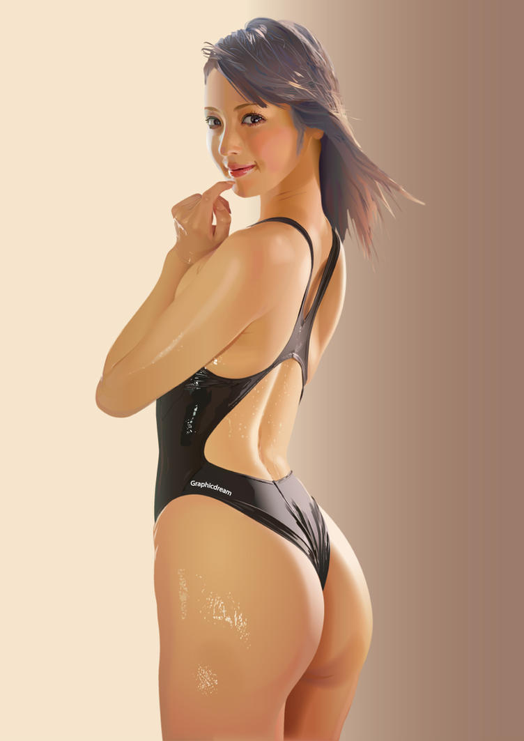 Black swimsuit by GraphicDream