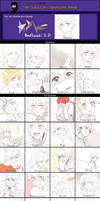 character expression meme by Liche1004