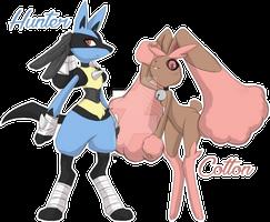 Hunter and Cotton :Pokemon FanArt: