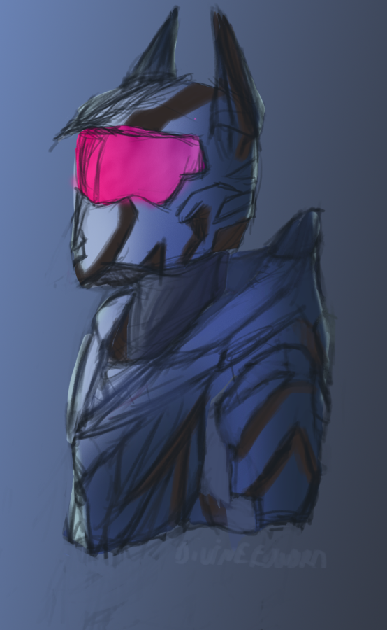 Spartan sketch Planet-shy Mrk 1 by DivineEdward