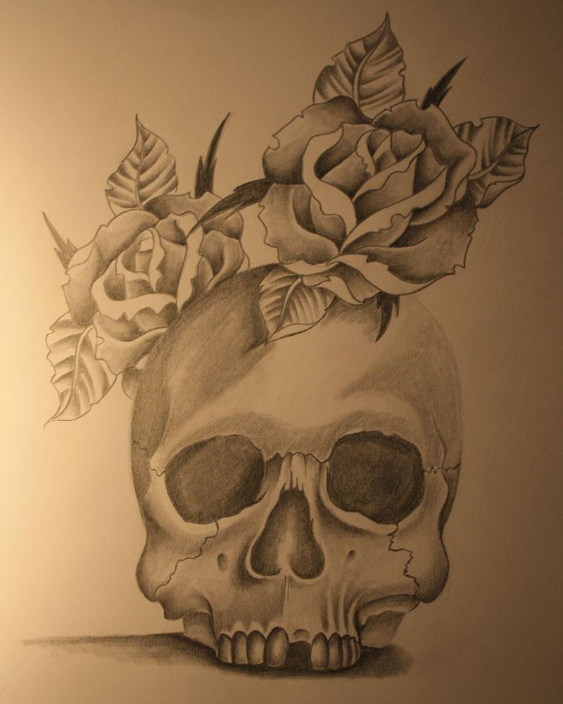 Skull tattoo by Unibody on