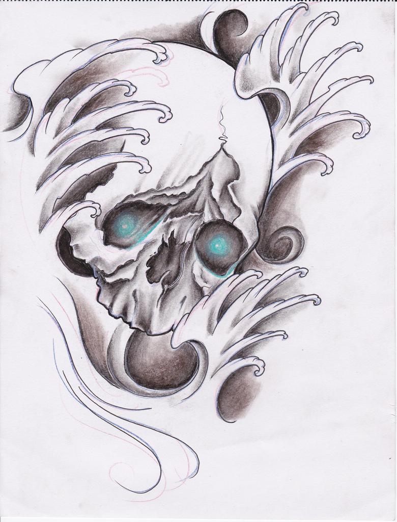 skull tatto design b