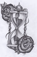 Hourglass tattoo design by Unibody