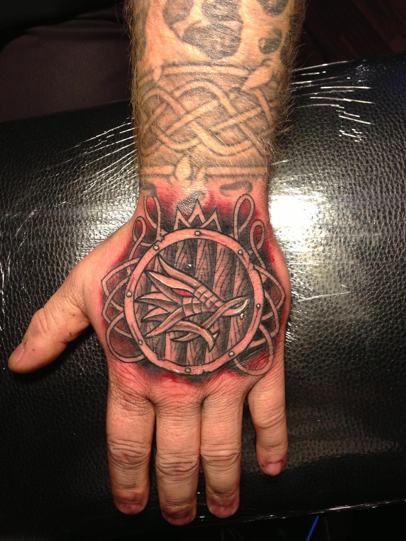 Viking Sword And Shield Tattoo
