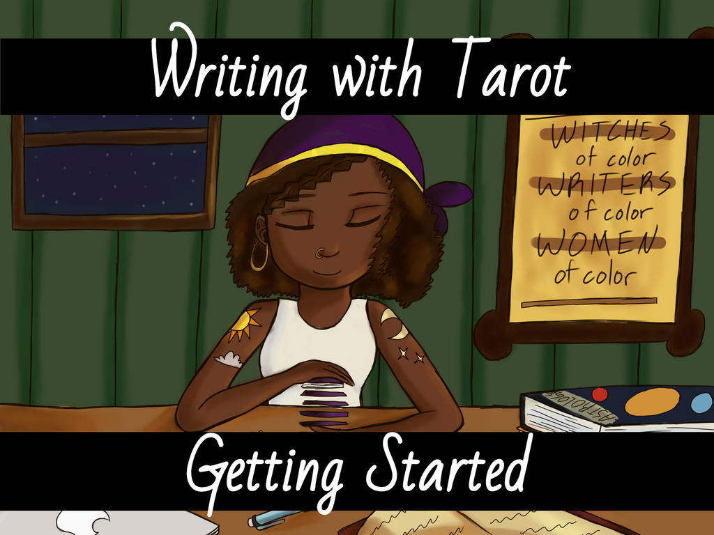 Writing with Tarot - Getting Started (original photo by @peachyartist (that's me!))