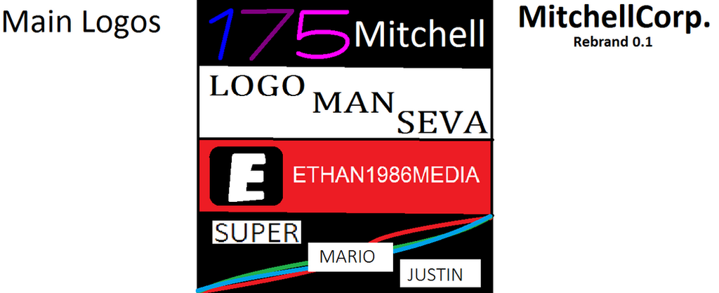MitchellCorp Rebrand 0.1 Part 1 - Main Logos by MitchTheLogoMan