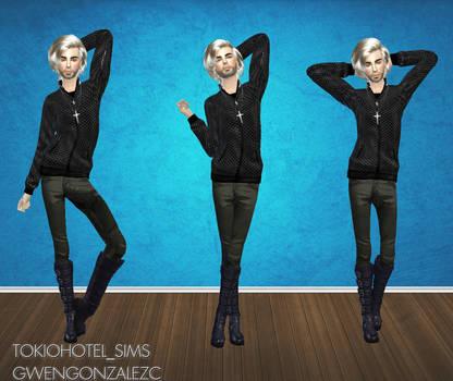 Bill Kaulitz Sims 4 -Pose