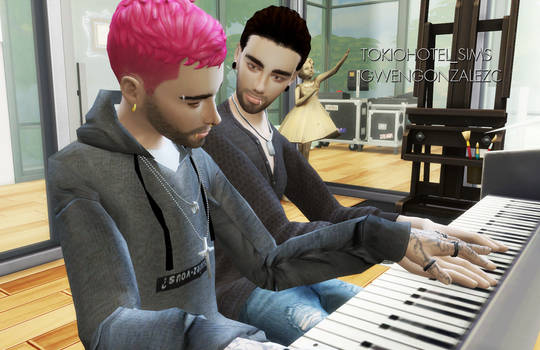 Bill and Tom Kaulitz Sims4 PIANO LESSONS