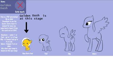Golden Dash by RainbowDeathFanXx