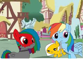 Bloody Rainbow, Golden Dash and Rainbow Dash by RainbowDeathFanXx