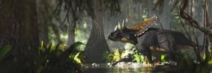 Chasmosaurus by PaleoGuy