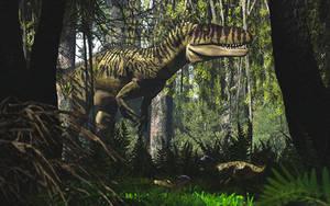 Torvosaurus and Fruitadens by PaleoGuy