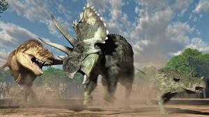 Teratophoneus and Agujaceratops adult and young