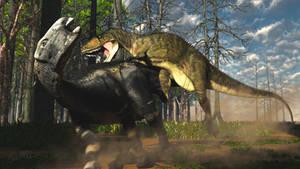 Dollodon and Neovenator by PaleoGuy