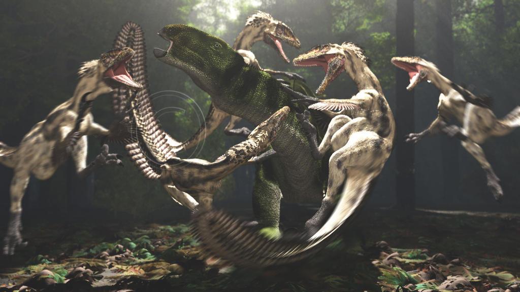 Eolambia and Deinonychus