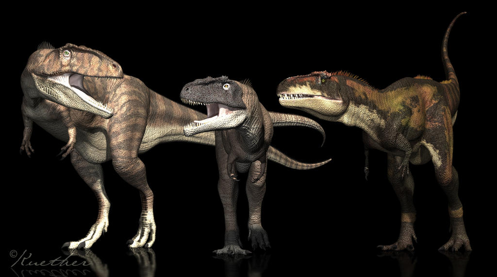 Giganotosaurus Mapusaurus Tyrannotitan by PaleoGuy
