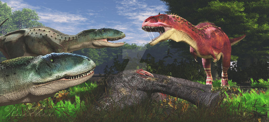Indosuchus Rajasaurus by PaleoGuy