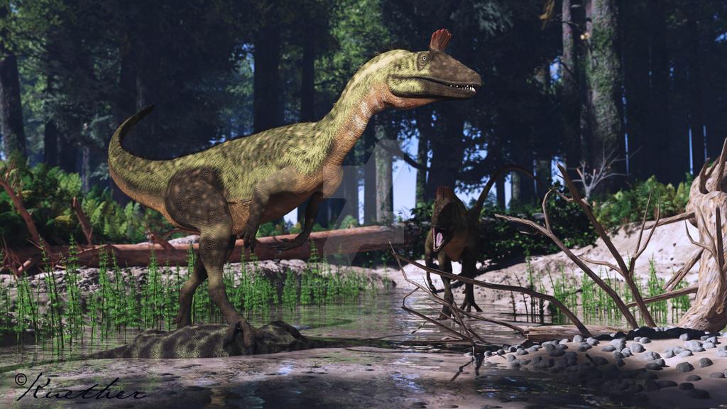 Cryolophosaurus by paleoguy on deviantart