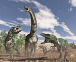 Alamosaurus, Tyrannosaurs rex