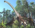 Sauroposeidon, Acrocanthosaurus