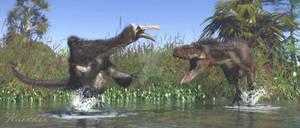 Deinocheirus Tarbosaurus