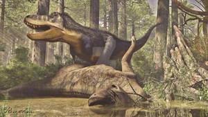 Tyrannosaurus Scavenging
