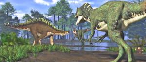 Allosaurus europaeus and Dacentrurus (=Miragaia)