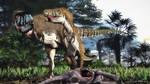 Tarbosaurus Adult and Juvenile