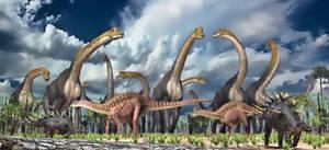 Giraffatitan, Dicraeosaurus, Kentrosaurus