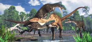 Carcharodontosaurus, Deltadromeus