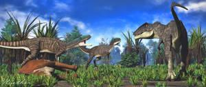 Deltadromeus and Carcharodontosaurus