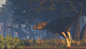 Rajasaurus and Isisaurus by PaleoGuy