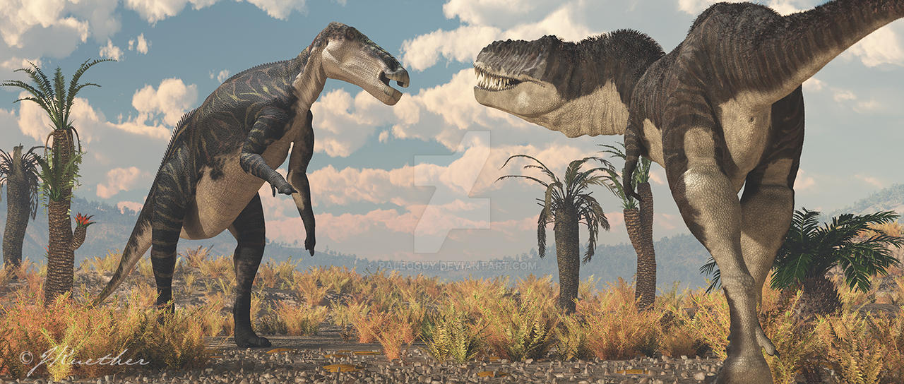 North horn formation by paleoguy on deviantart zhuchengtyrannus and shantungosaurus by paleoguy thecheapjerseys